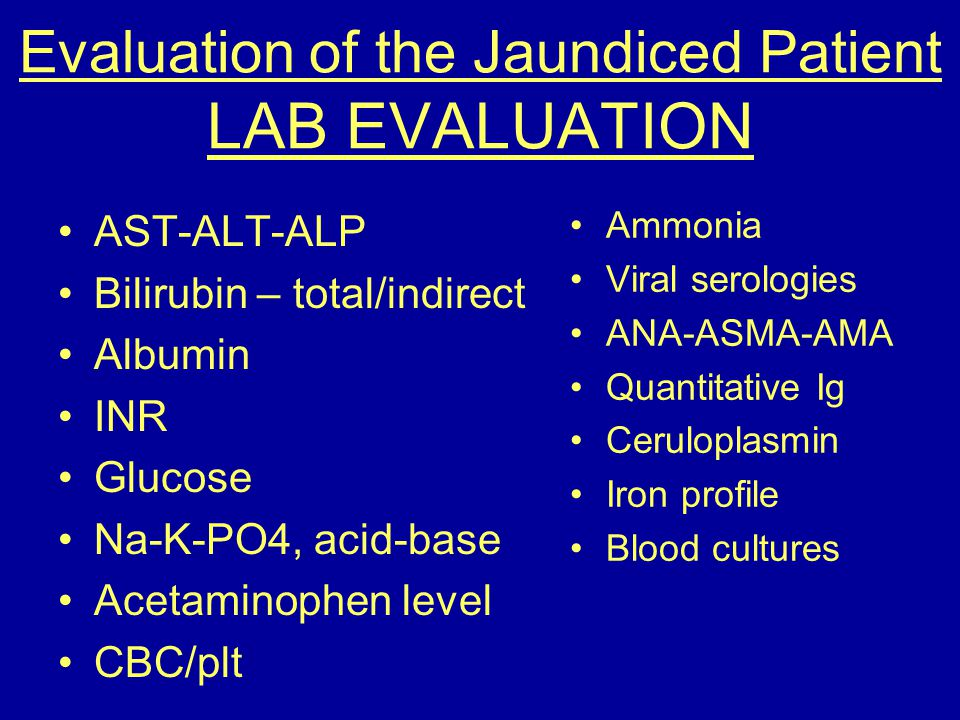 Evaluation of the Jaundiced Patient LAB EVALUATION