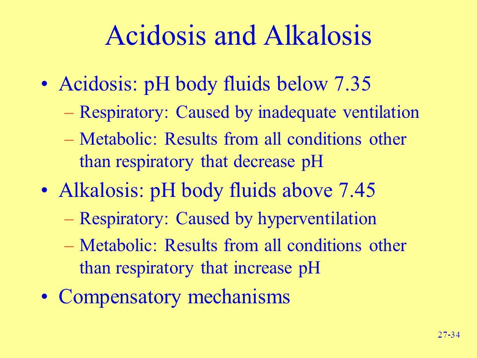 Acidosis and Alkalosis