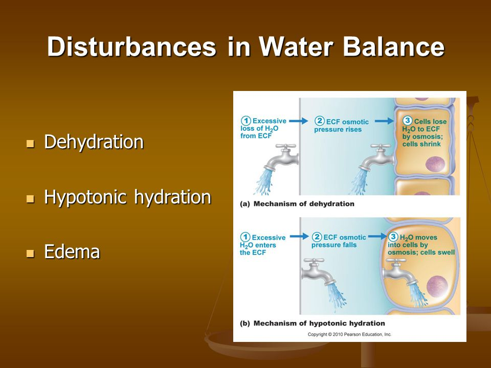 Disturbances in Water Balance