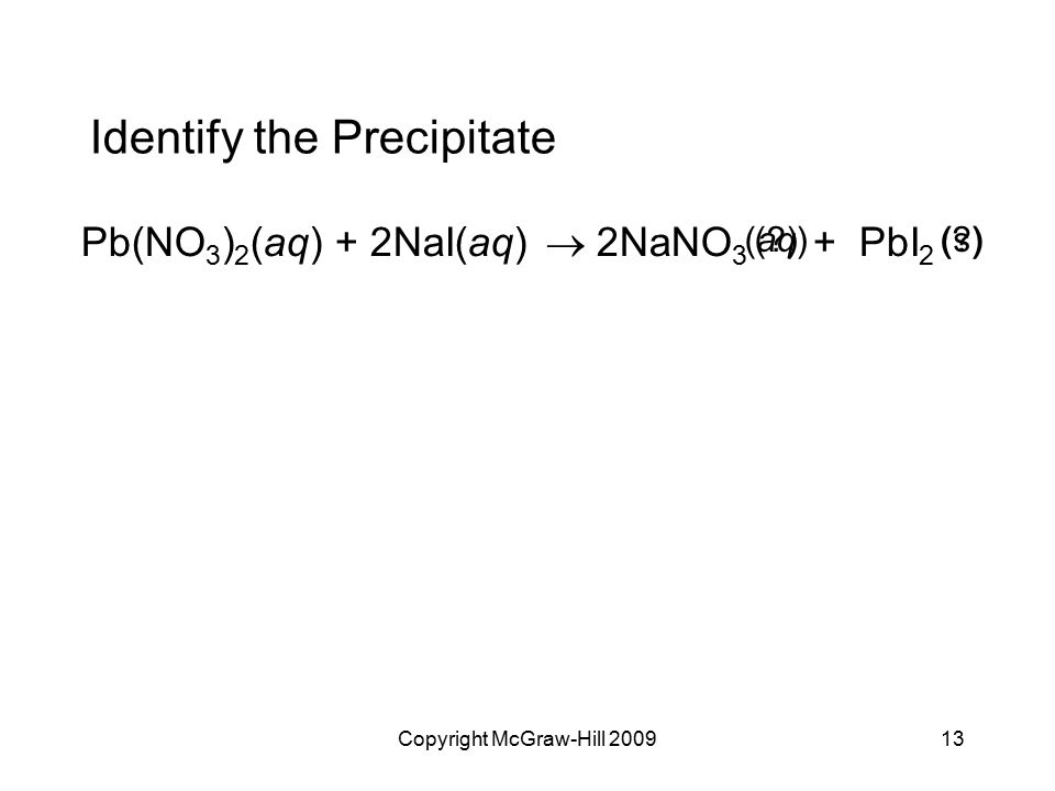 Identify the Precipitate