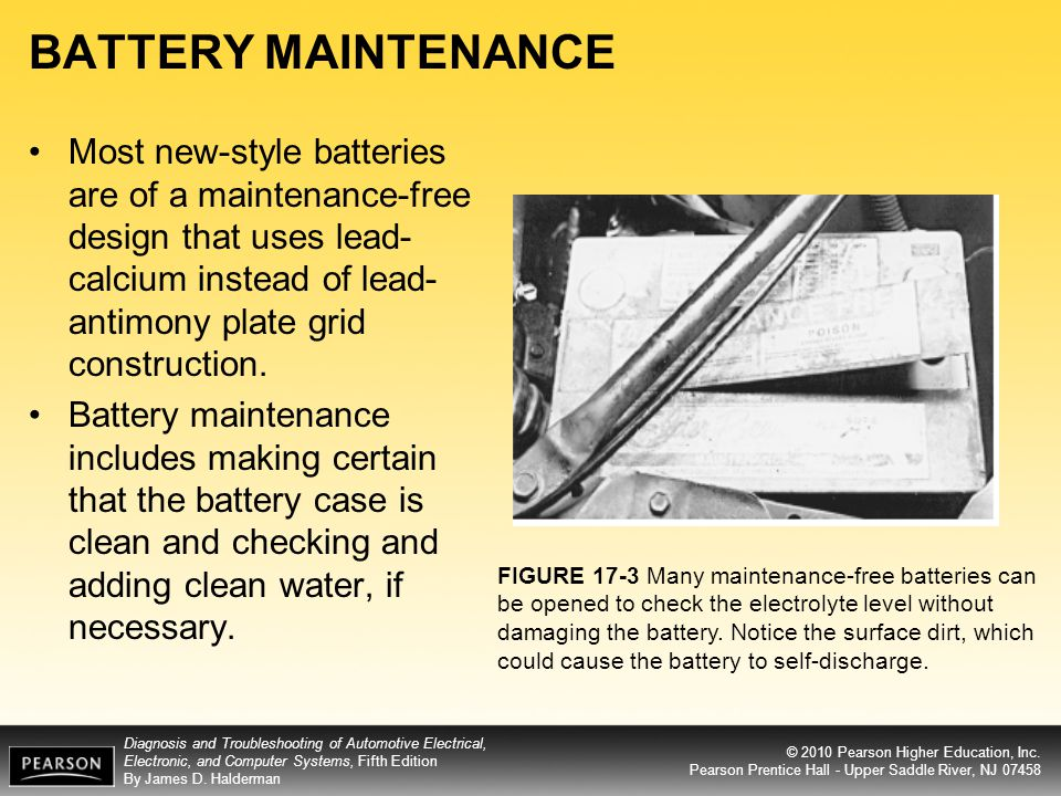 BATTERY MAINTENANCE