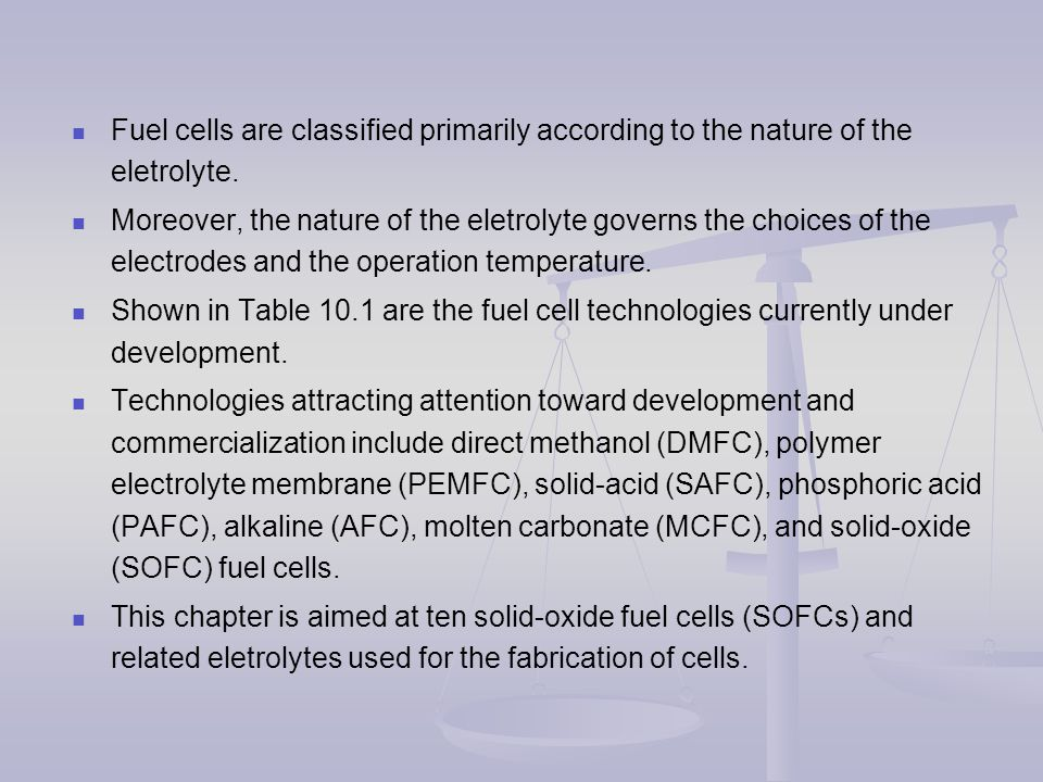 Chapter 7 Materials for Solid-Oxide Fuel Cells (SOFCs) - ppt video