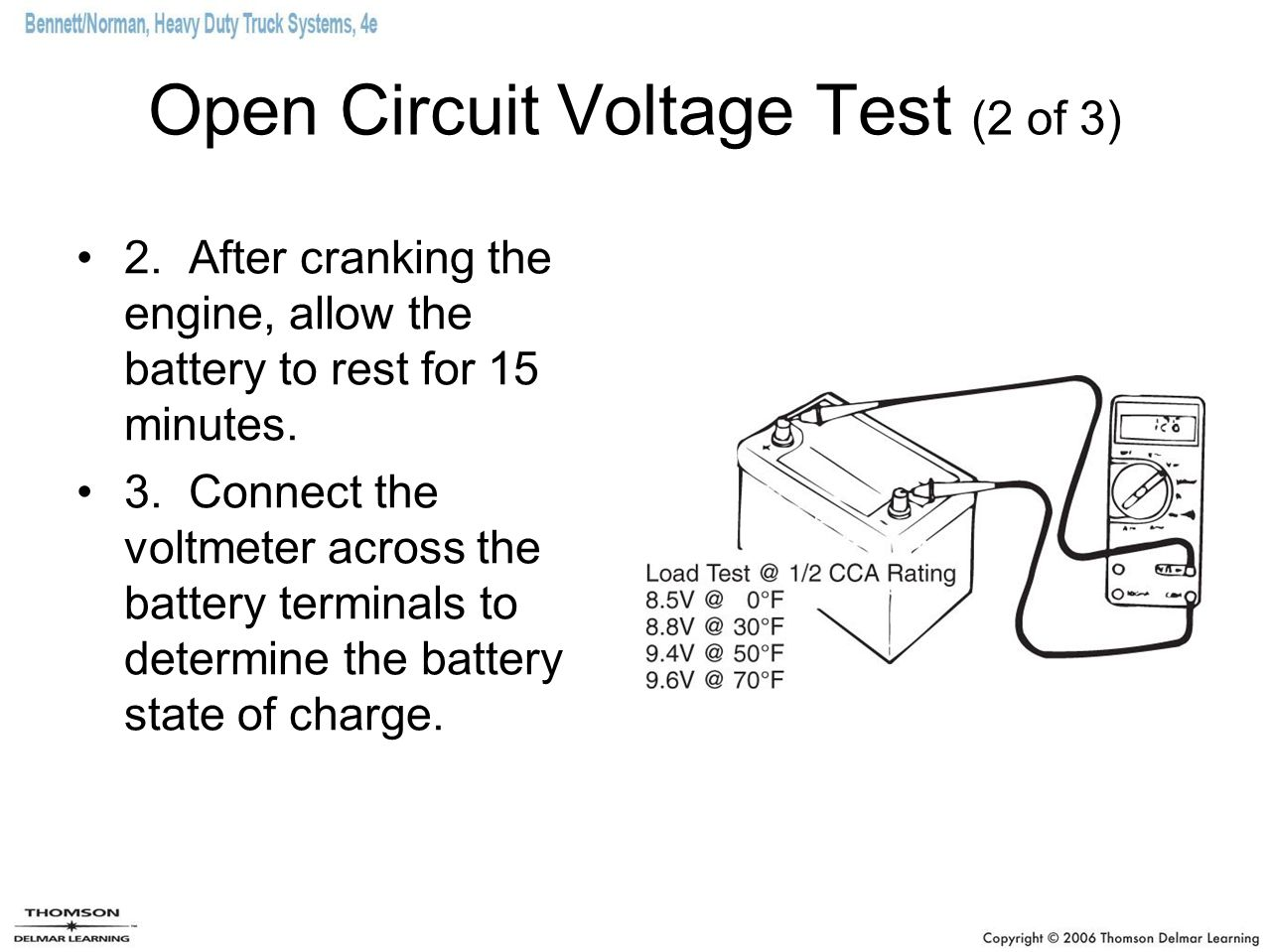Open Circuit Voltage Test (2 of 3)