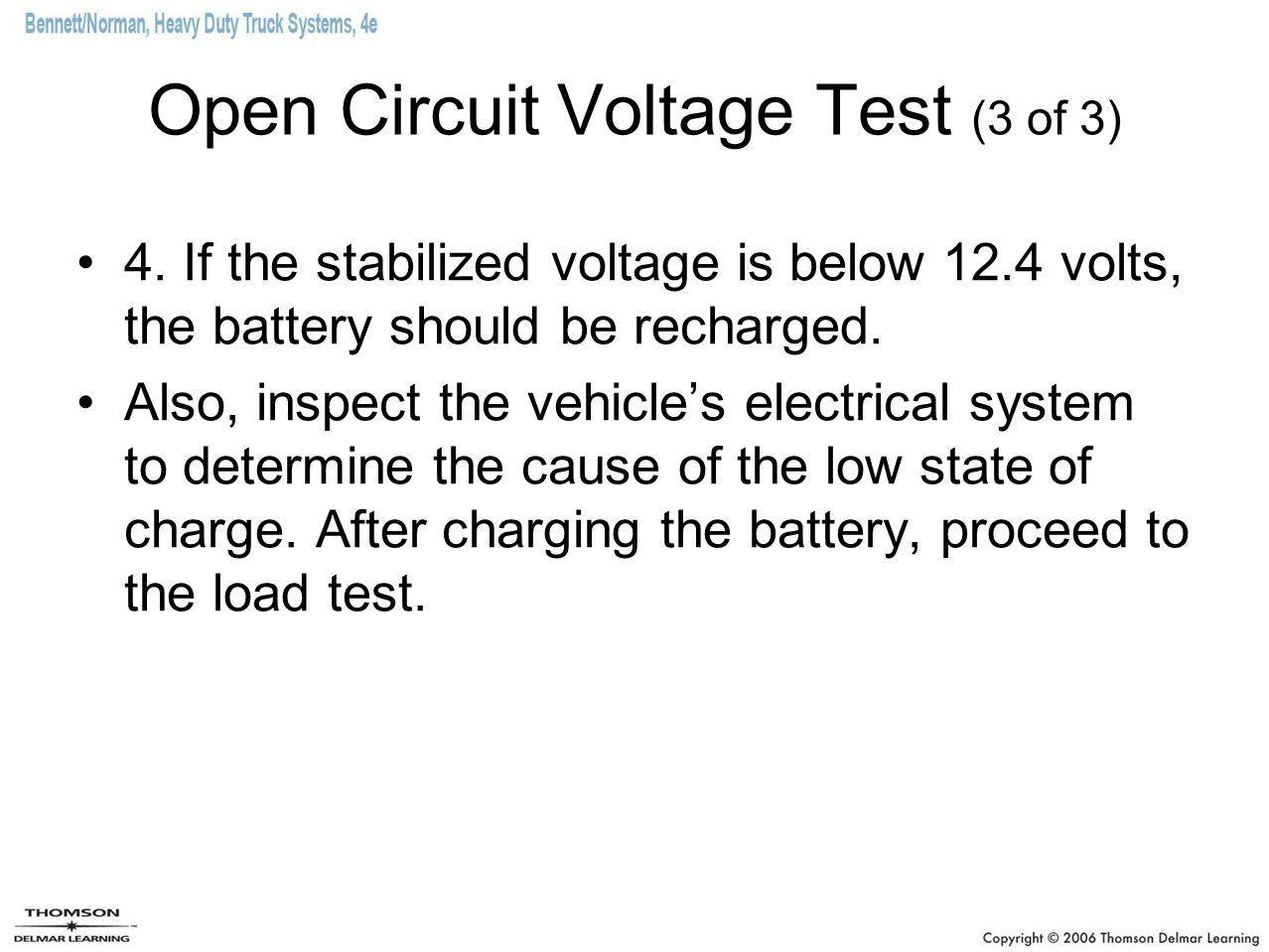 Open Circuit Voltage Test (3 of 3)