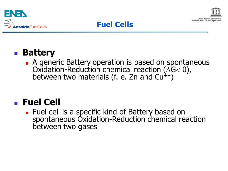Battery Fuel Cell Fuel Cells