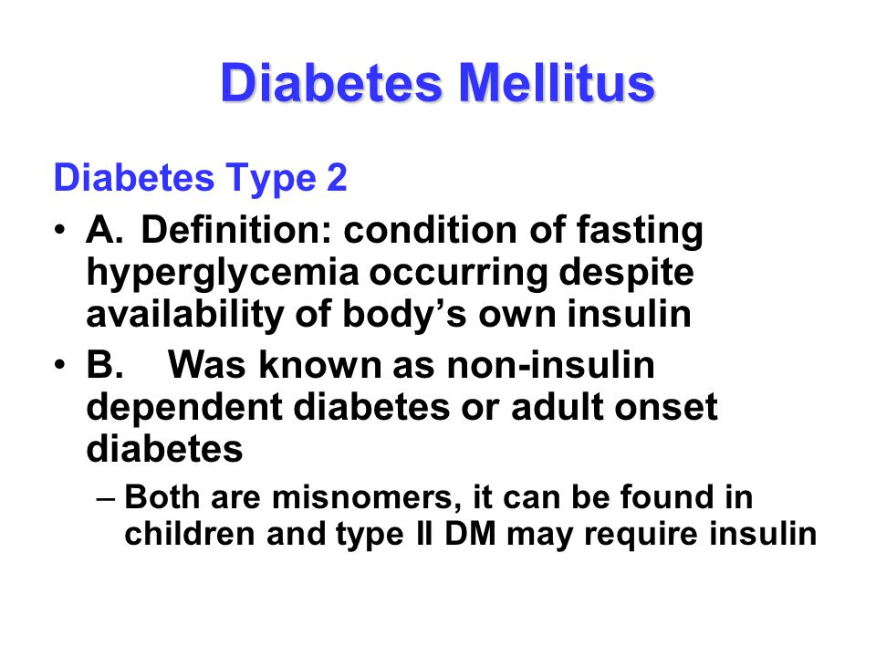 diabetes mellitus type 2 essays It involved 121 patients with type 2 diabetes mellitus and 17 patients with type 1 diabetes mellitus the intervention that was used in this case study was that the nurse case manager followed the written management algorithm with the direction of the family physician and an endocrinologist.