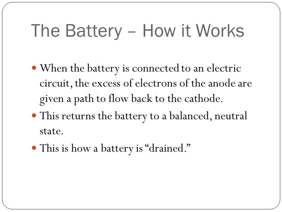 The Battery – How it Works