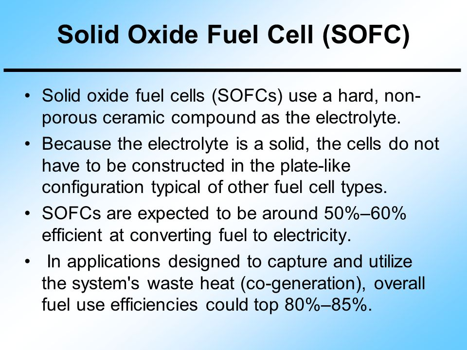 Overview of Fuel Cell Types - ppt video online download