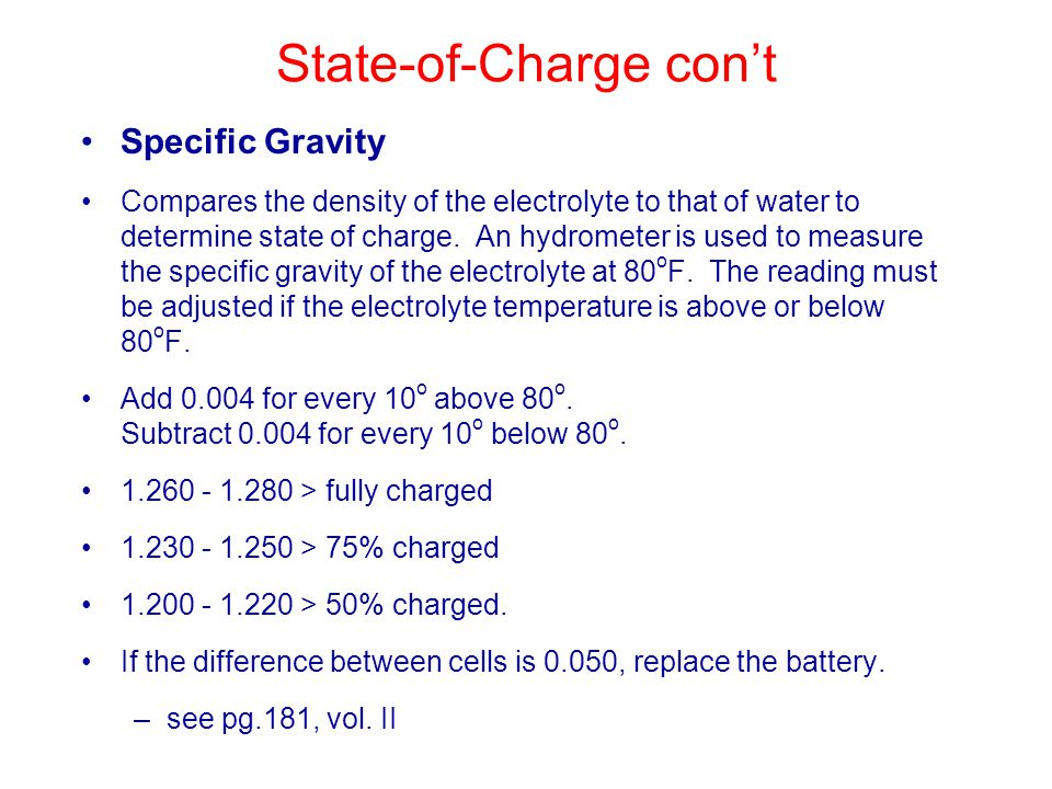 State-of-Charge con't