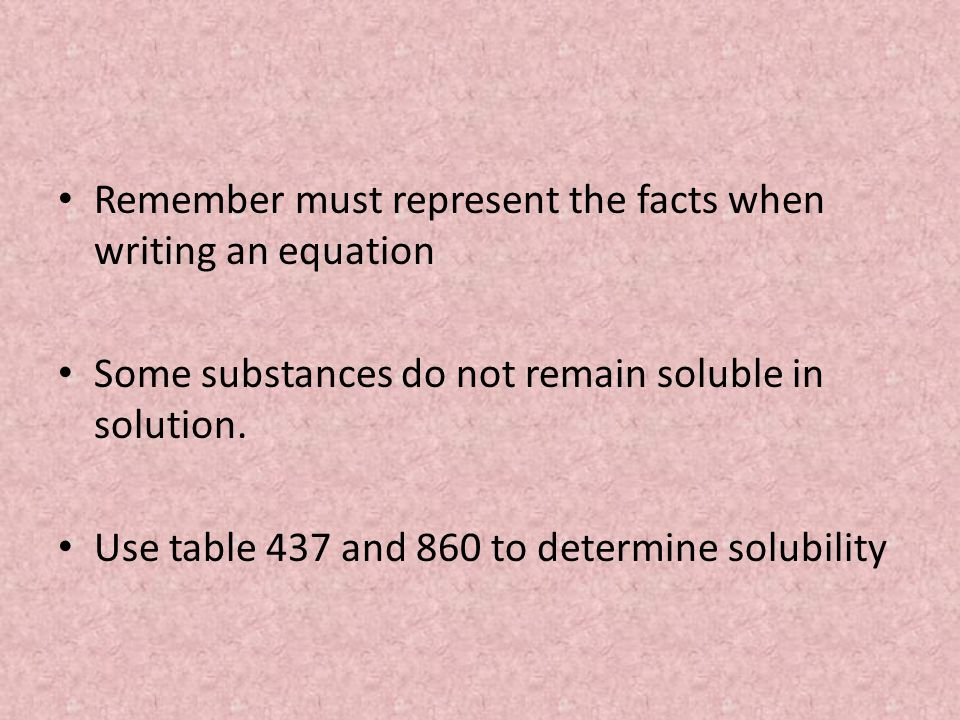 Remember must represent the facts when writing an equation