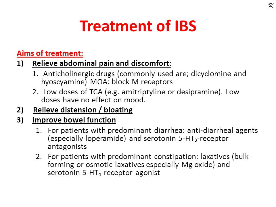 Treatment of irritable bowel syndrome (IBS) and constipation