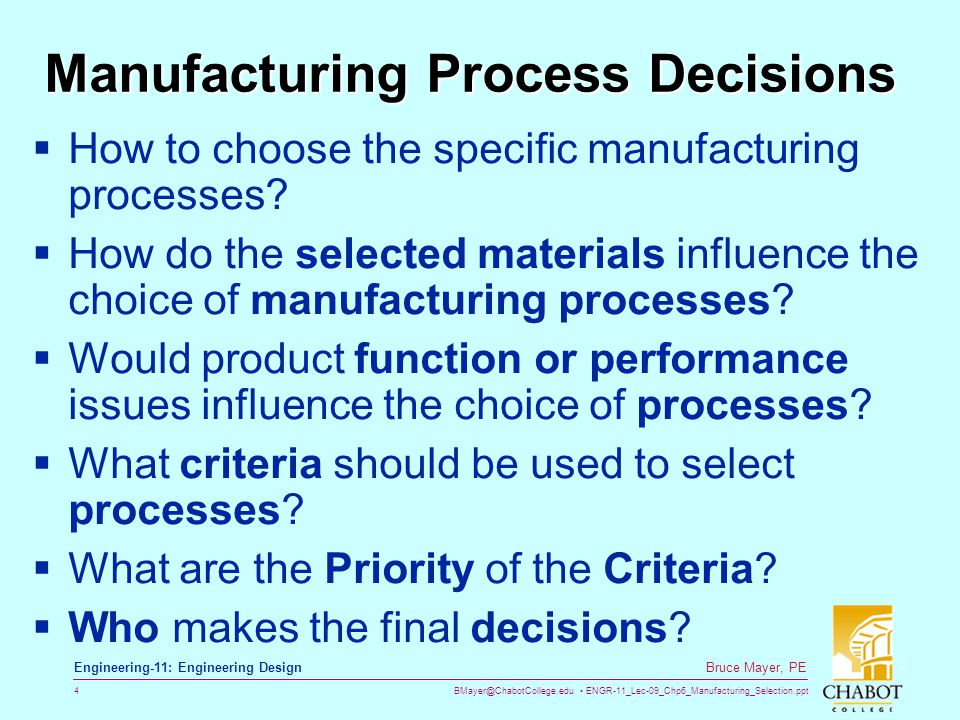 Manufacturing Processes - ppt video online download