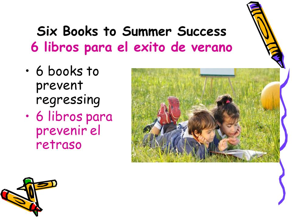 Six Books to Summer Success 6 libros para el exito de verano
