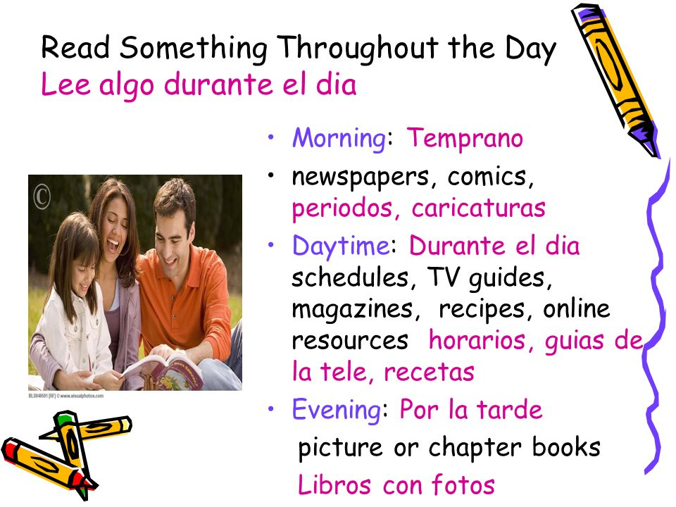 Read Something Throughout the Day Lee algo durante el dia
