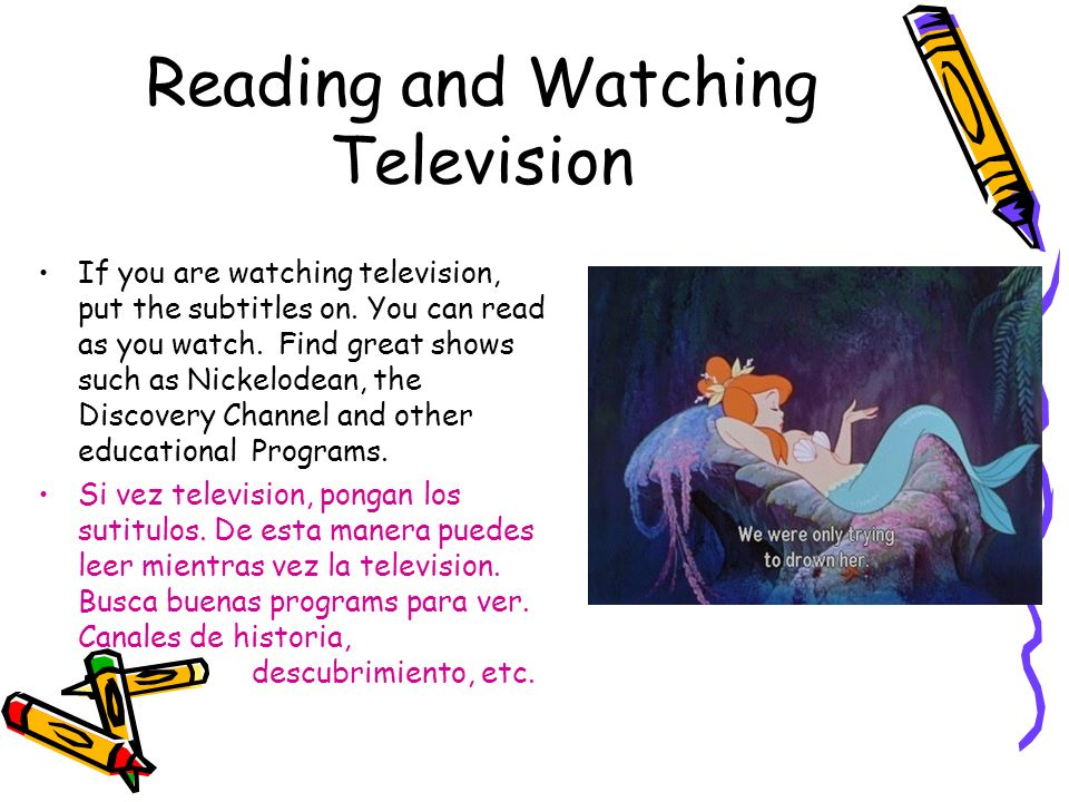 Reading and Watching Television