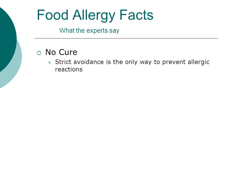 Food Allergy Awareness and Management - ppt video online