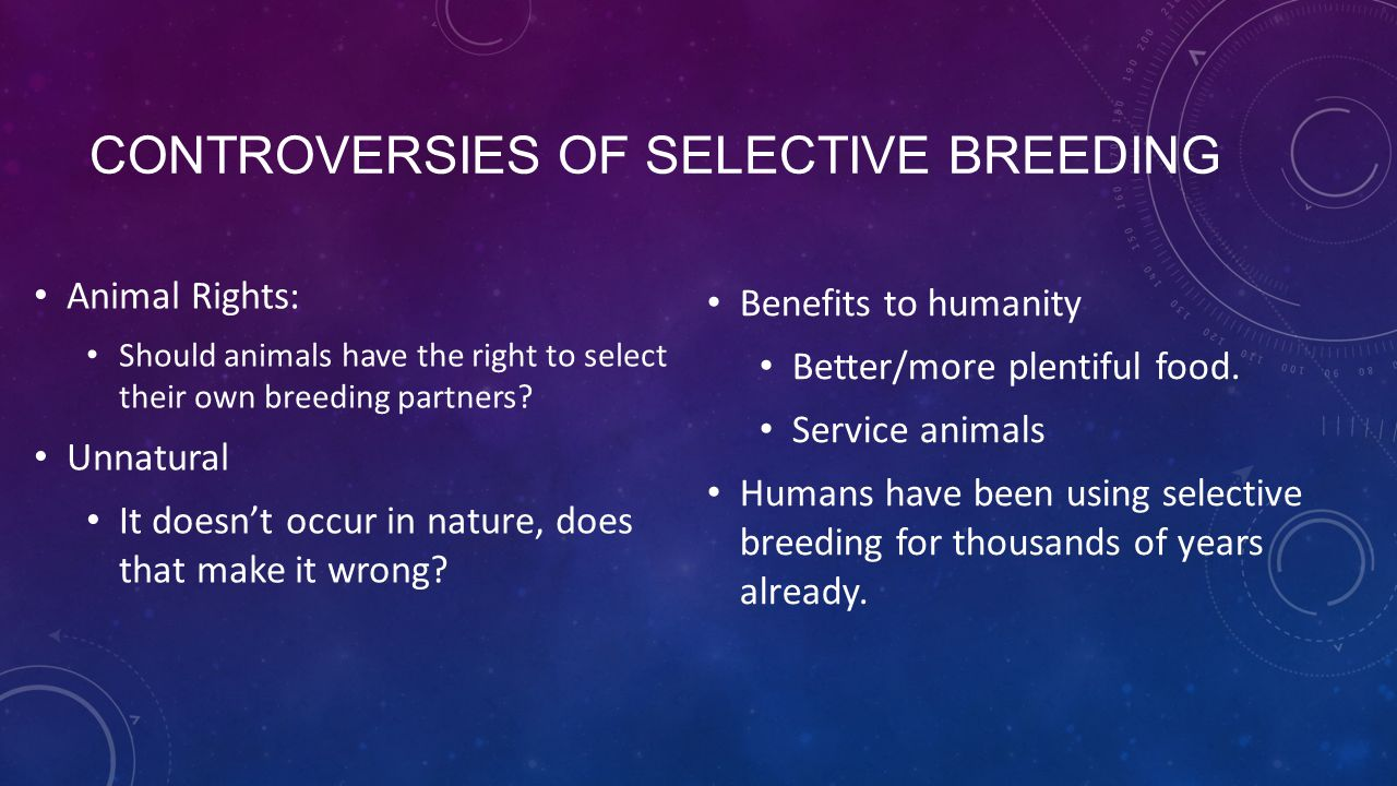 Controversies of Selective breeding