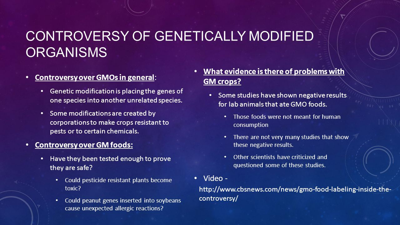Controversy of Genetically modified organisms