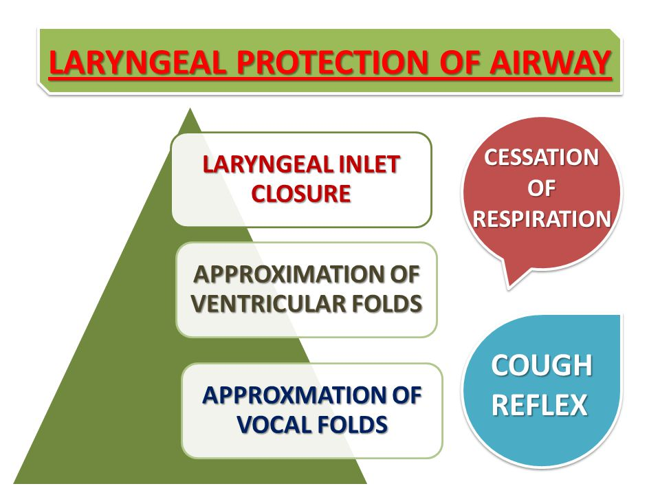 LARYNGEAL PROTECTION OF AIRWAY