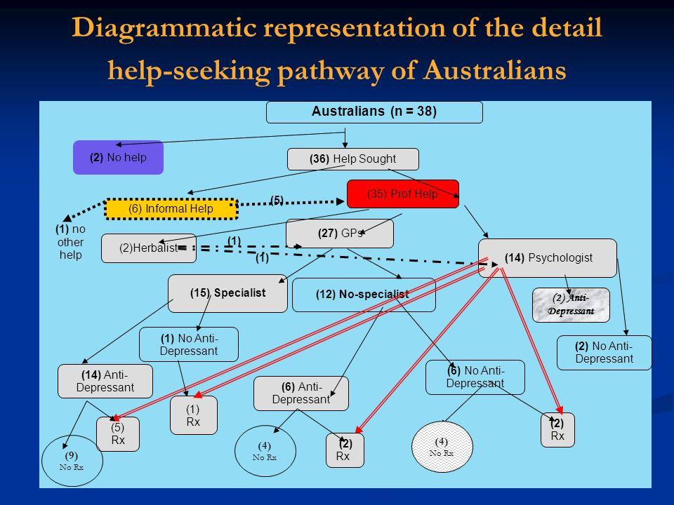 Diagrammatic representation of the detail help-seeking pathway of Australians