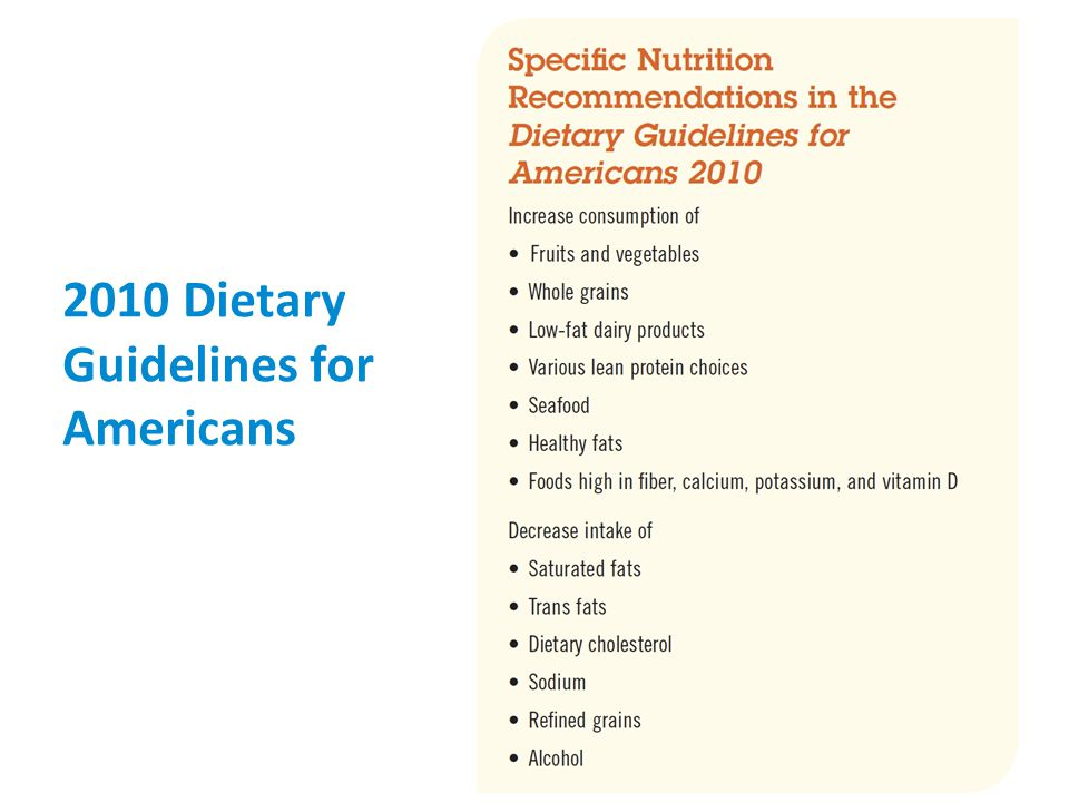 75 2010 Dietary Guidelines for Americans