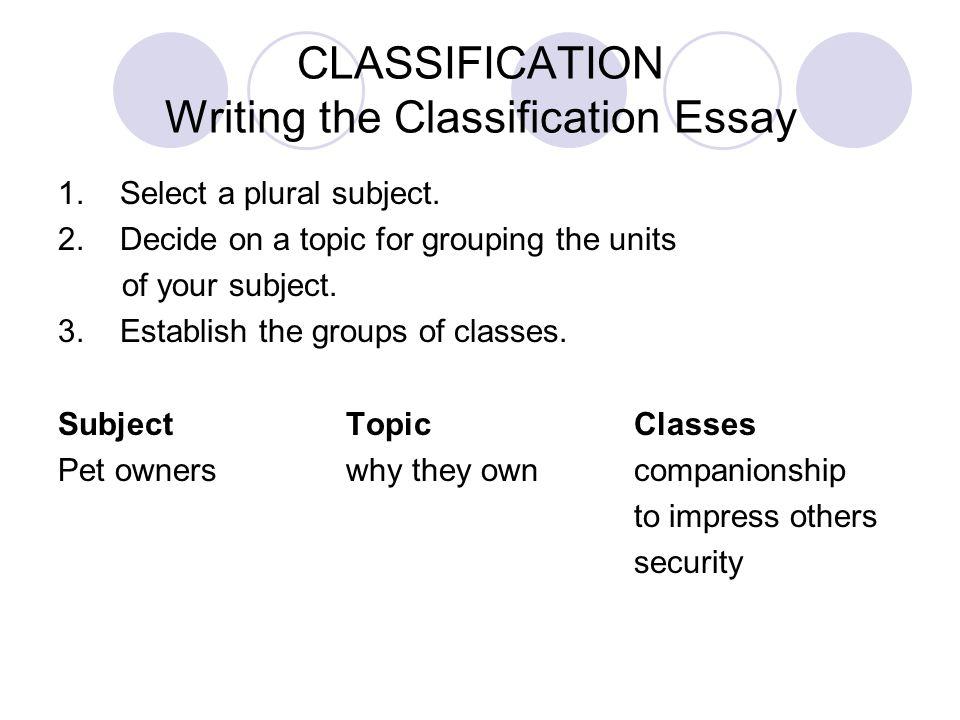 Classification essay prompts mistyhamel