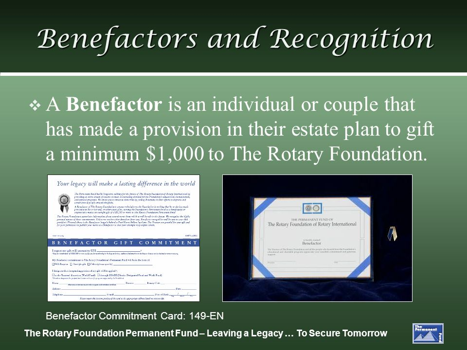 Benefactors and Recognition