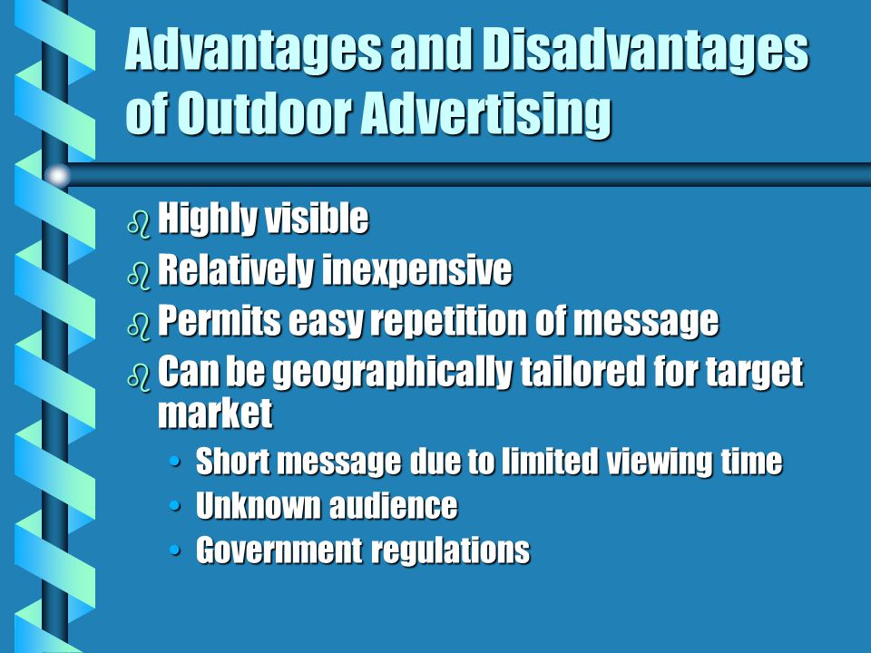 Advantages and Disadvantages of Outdoor Advertising