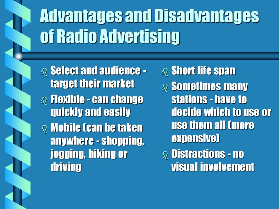 Advantages and Disadvantages of Radio Advertising