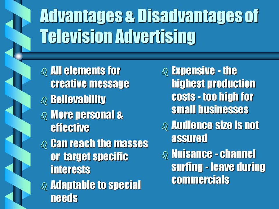 Advantages & Disadvantages of Television Advertising