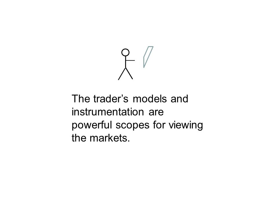 The trader's models and instrumentation are powerful scopes for viewing the markets.