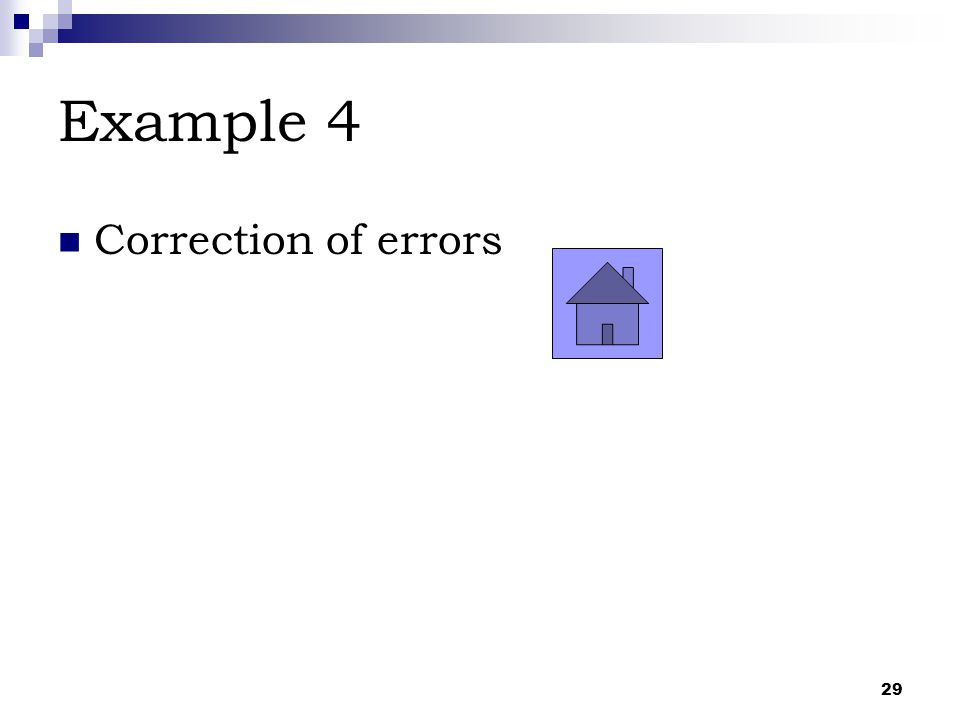 Example 4 Correction of errors