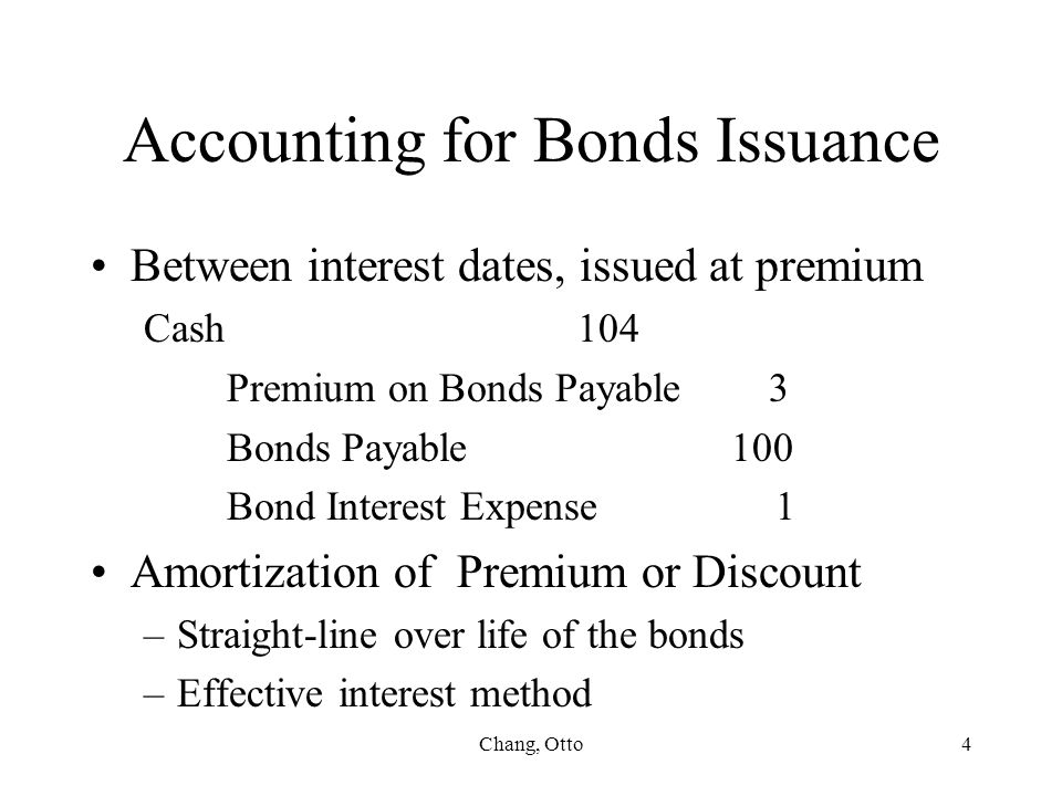 Accounting for Bonds Issuance