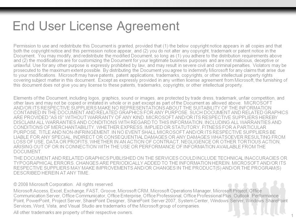 End User License Agreement Ppt Download