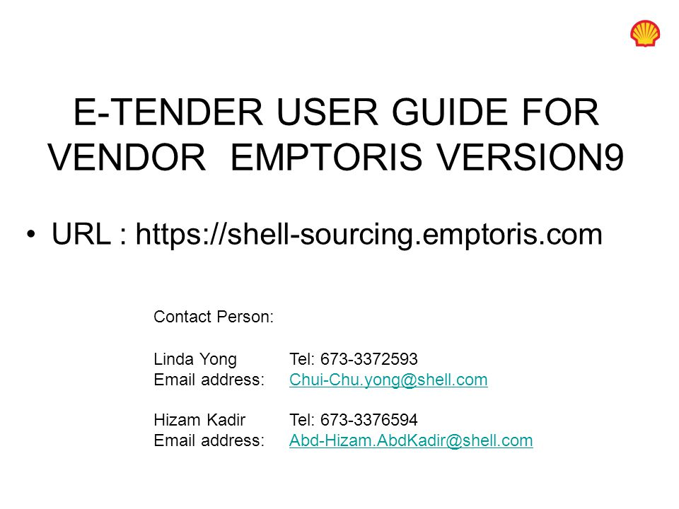 e tender user guide for vendor emptoris version9 ppt download rh slideplayer com Samsung User Manual Guide Toshiba User Guide Manual