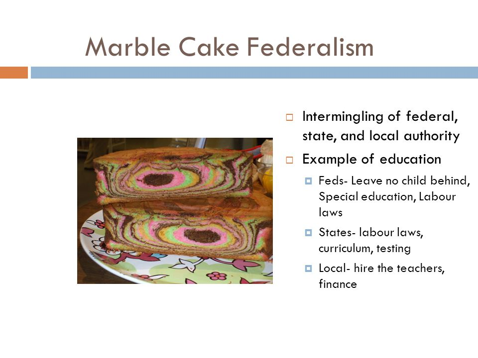 what is marble cake federalism