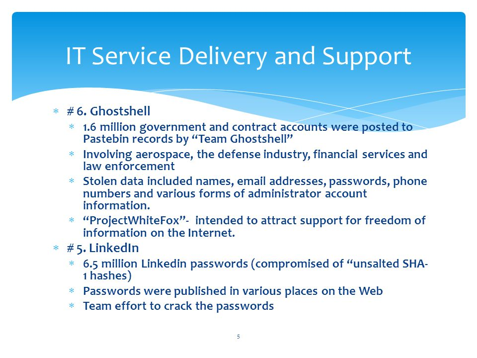 IT Service Delivery And Support Week Ten - ppt download