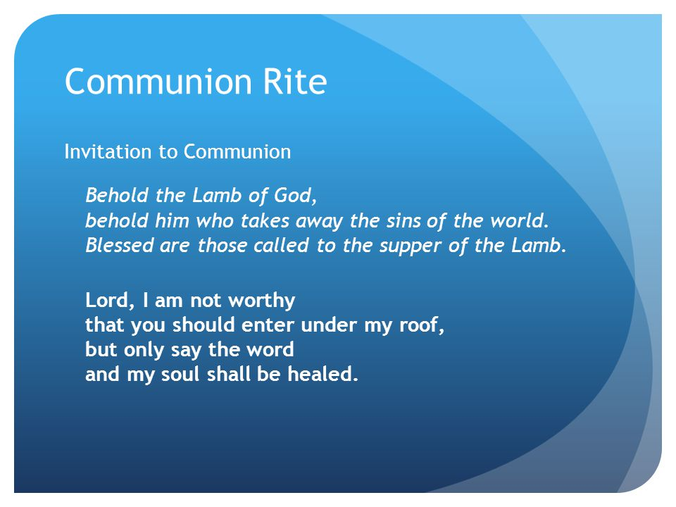 Mass ppt download 30 communion rite invitation stopboris Images