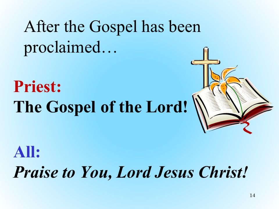 After the Gospel has been proclaimed…