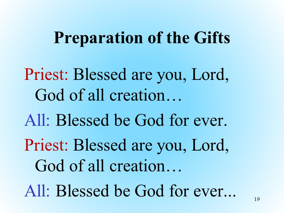 Preparation of the Gifts