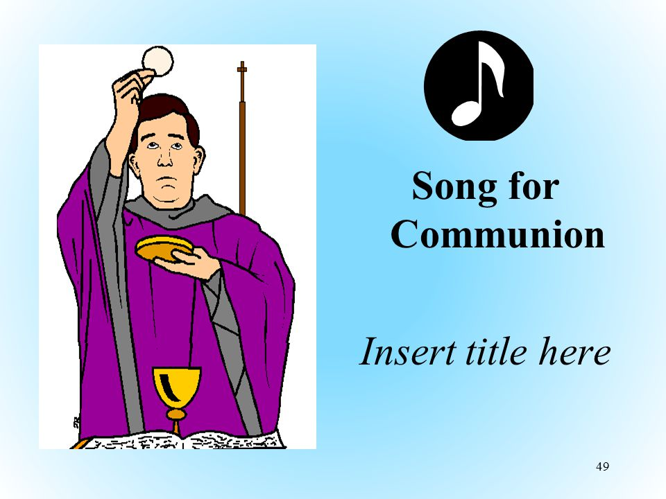 Song for Communion Insert title here