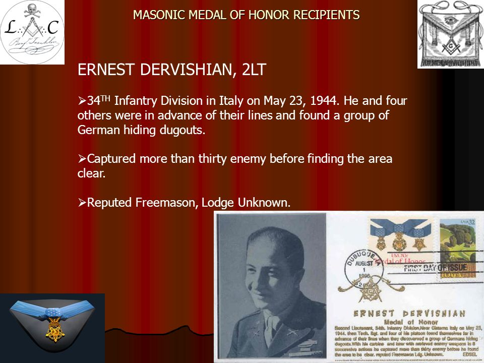 MASONIC MEDAL OF HONOR RECIPIENTS - ppt video online download