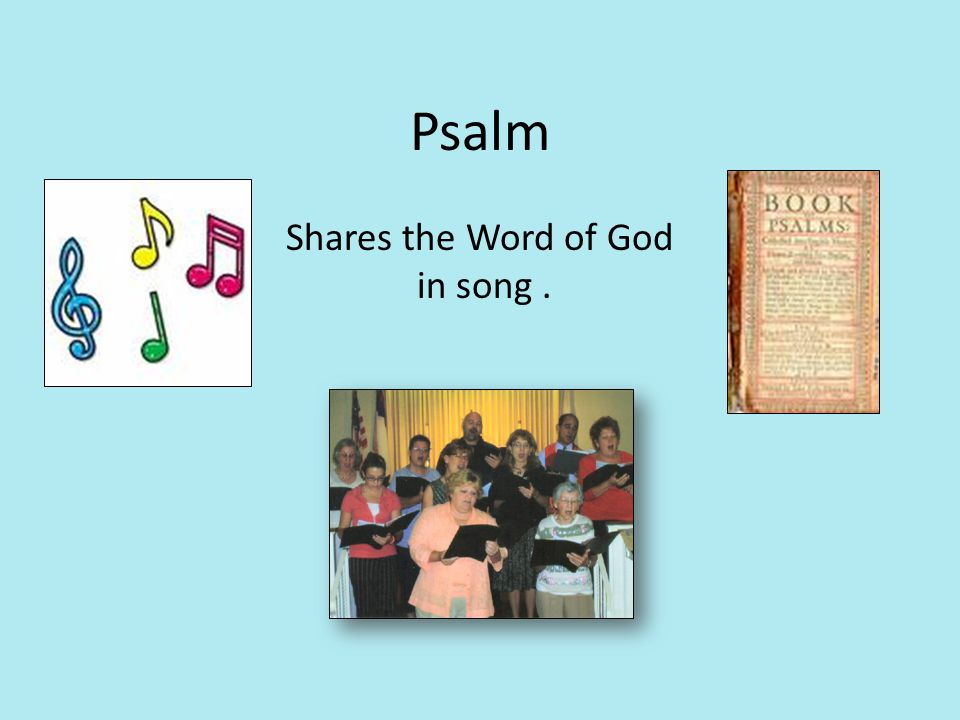 Psalm Shares the Word of God in song .