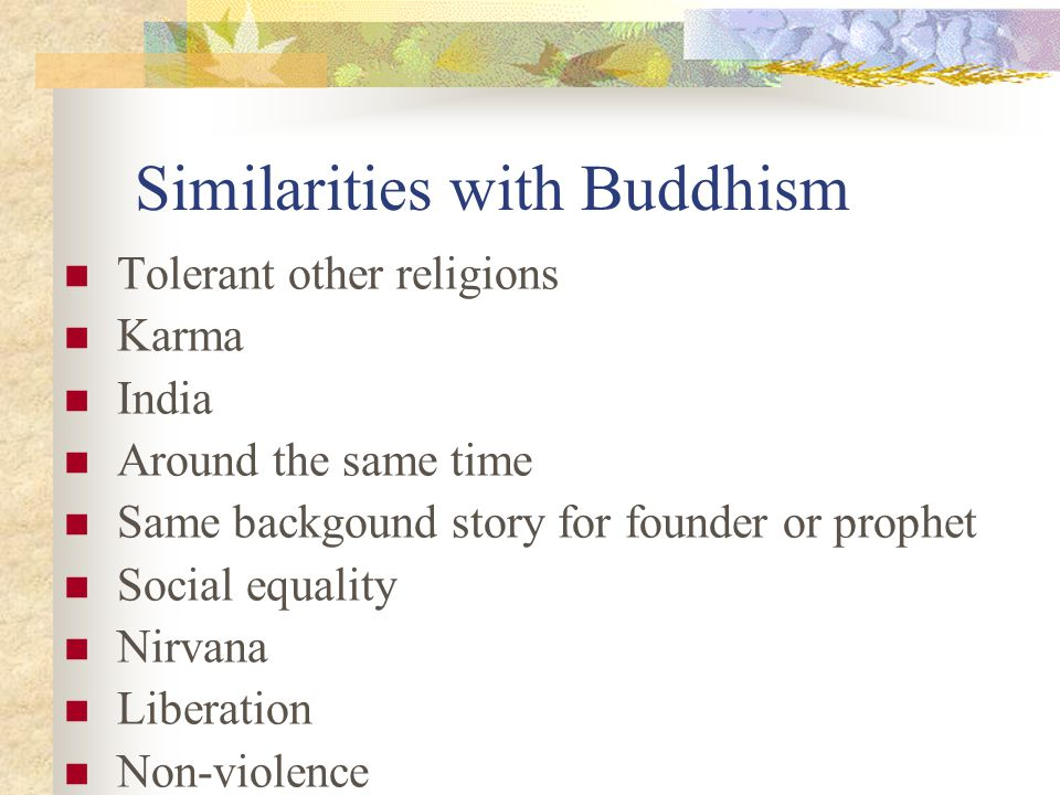 Similarities with Buddhism
