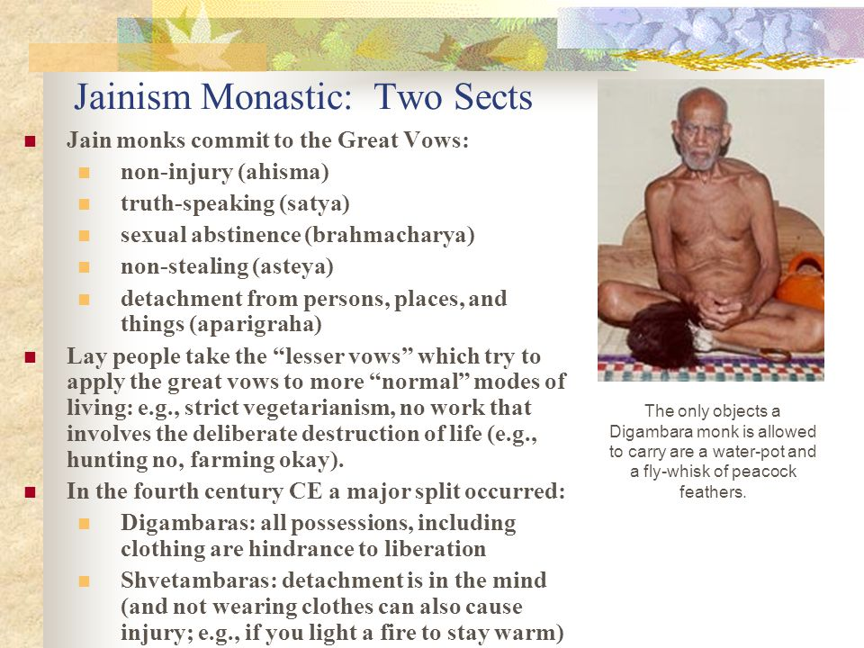 Jainism Monastic: Two Sects