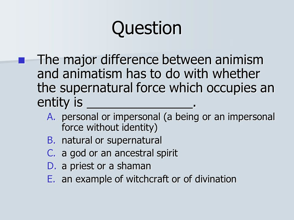 animism and animatism