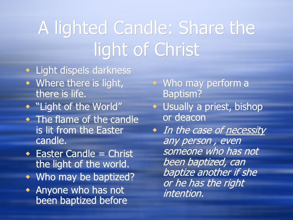 A lighted Candle: Share the light of Christ