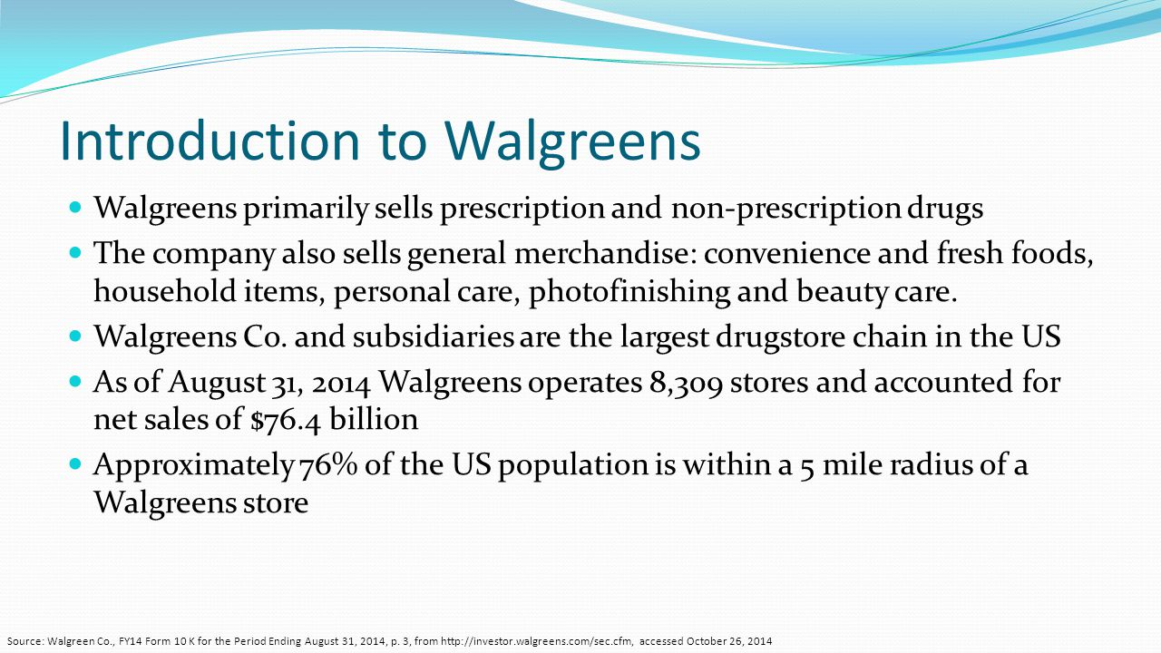 Walgreen Co. (Walgreens Boots Alliance) - ppt video online download