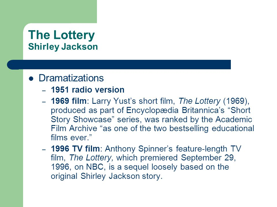 the lottery short