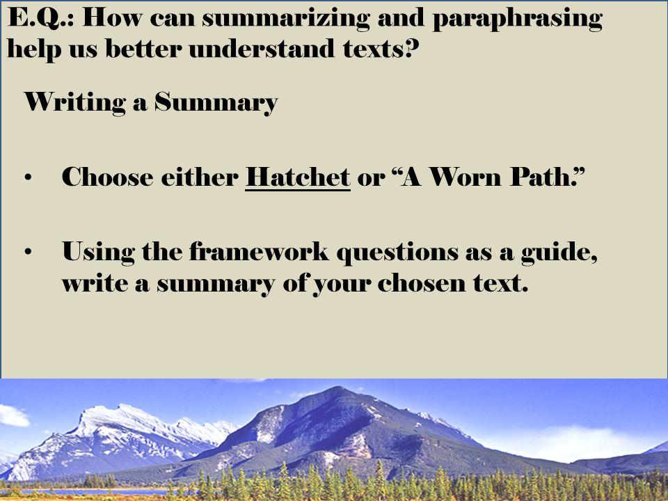 the worn path summary